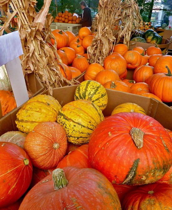 This display of squash and pumpkins at Berkeley Bowl West in Berkeley inspires me for the seasonal cooking we'll want to do now and through to New Year's.